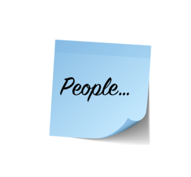 people blue post it note